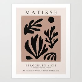 Henri Matisse Print, Matisse Exhibition Poster, Matisse Leaf Art Print