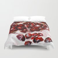 pomegranate Duvet Covers featuring Pomegranate by James Peart