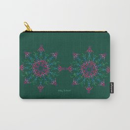 Breathe In & Out Mandala x2 - Green Carry-All Pouch
