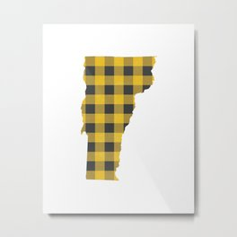 Vermont Plaid in Yellow Metal Print