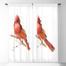 cardinal on the branch Blackout Curtain