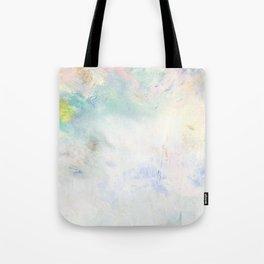 Snowy Brushstrokes Tote Bag