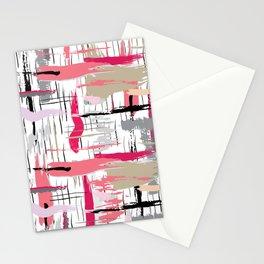 Pink Brushstroke Stationery Cards