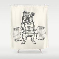 English Bulldog Lift Shower Curtain