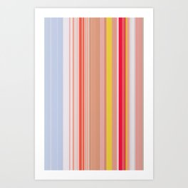 stripes42 Art Print