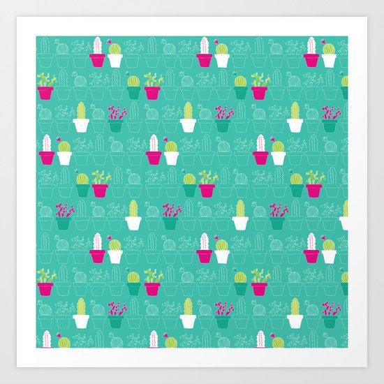 Mini Cactus Love Art Print