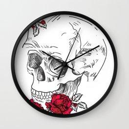 Japanese Skull Tattoo Wall Clock