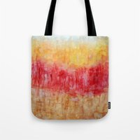 the strokes Tote Bags featuring Strokes by Bonnie J. Breedlove