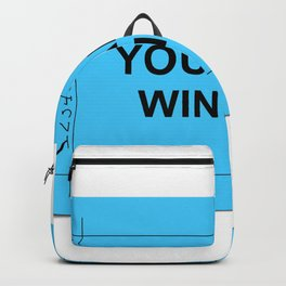 Blue Ticket Backpack