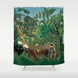 Henri Rousseau Exotic Landscape Shower Curtain