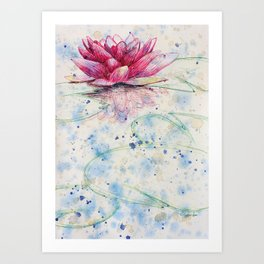beauTEAful blooms: Water Lily Art Print