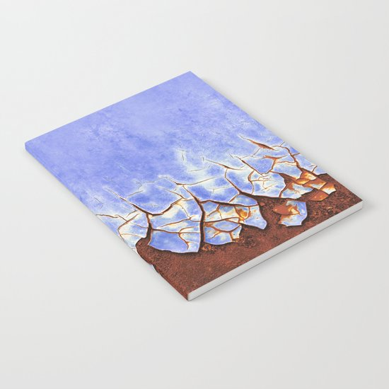 Rust and Blue Notebook