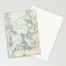 Vintage Map of East Hampton New York (1873) Stationery Cards
