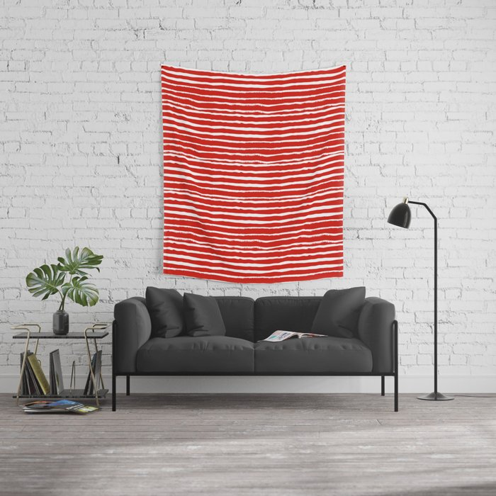 Minimal Christmas red and white holiday pattern stripes candy cane ...