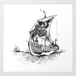 Viking Drakkar Art Print
