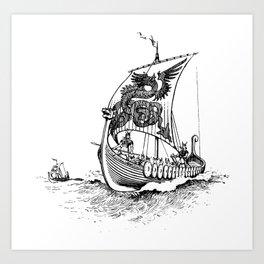 Viking Drakkar Art Print