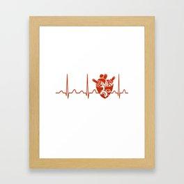 Biomedical Engineer Heartbeat Framed Art Print