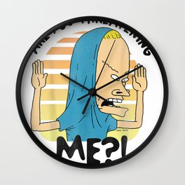 Beavis and Butthead Cornholio Quote Graphic T-Shirt Wall Clock
