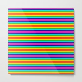 Multi color striped Metal Print
