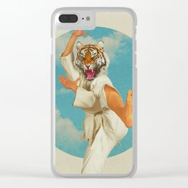 Fighting Tiger Clear iPhone Case