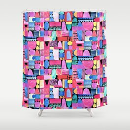 PInk Delaunay Shower Curtain