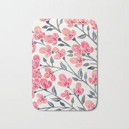 Cherry Blossoms – Pink & Black Palette Bath Mat