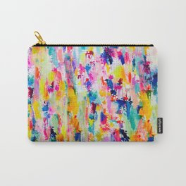 Bright Colorful Abstract Painting in Neons and Pastels Carry-All Pouch