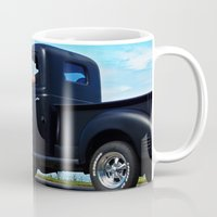 fargo Mugs featuring Cruising the Waterfront in the old Fargo by DanByTheSea