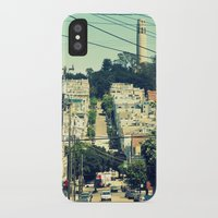 san francisco iPhone & iPod Cases featuring San Francisco by Mr & Mrs Quirynen