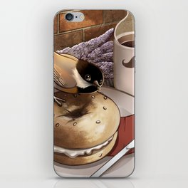 The Bagel Thief iPhone Skin