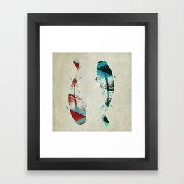 反対派 (opponents) Framed Art Print