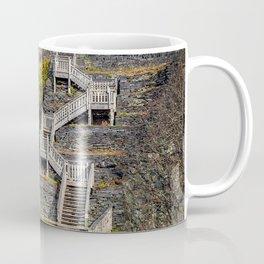 Hospital Steps at Llanberis Quarry Coffee Mug