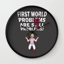 First World Problem - Wine Wall Clock