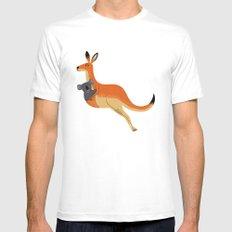 The Kangaroo and The Koala Mens Fitted Tee White MEDIUM