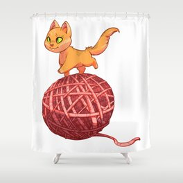 Kitten On Yan Shower Curtain