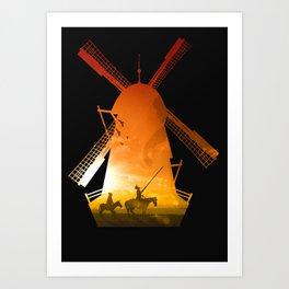 Fighting Giants (dark version) Art Print