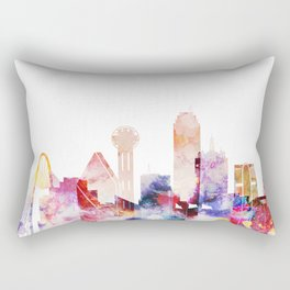 Dallas Texas City Pink Skyline Poster Rectangular Pillow