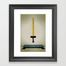 Golden Sword Framed Art Print