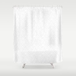 Heats and Hearts pattern (White) Shower Curtain