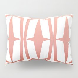 Mid Century Muse: Medallion in Coral Pillow Sham
