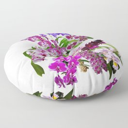 Orchids, cool and calming colors Floor Pillow