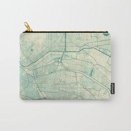 El Paso Map Blue Vintage Carry-All Pouch