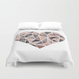 A Big Heart, Geometric Abstract Duvet Cover