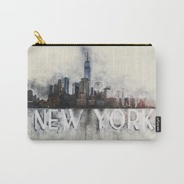 New York watercolor Carry-All Pouch