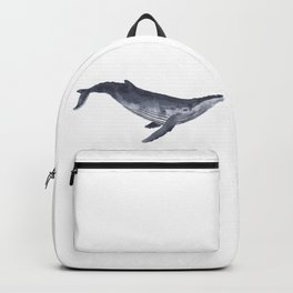 Blue Whale | Watercolor | Illustration | Sea Animal Backpack