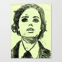 Monoprinted Woman Canvas Print