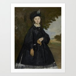 Edouard Manet - Portrait of Madame Brunet Art Print