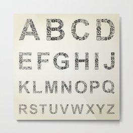 Alphabet business Metal Print