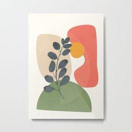 Abstract Sunset O2 Metal Print