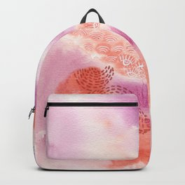 Herb Song in Lavender with Mugwort Contemporary Abstract Watercolor Painting Backpack